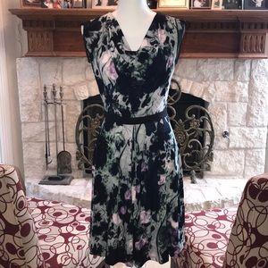 Simply Vera by Vera Wang green/floral dress Sz-xs